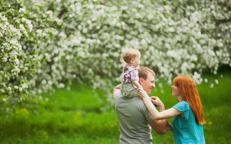 Rodina na procházke