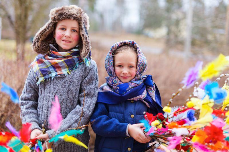 Děti převlečené za čarodějnice Finsko