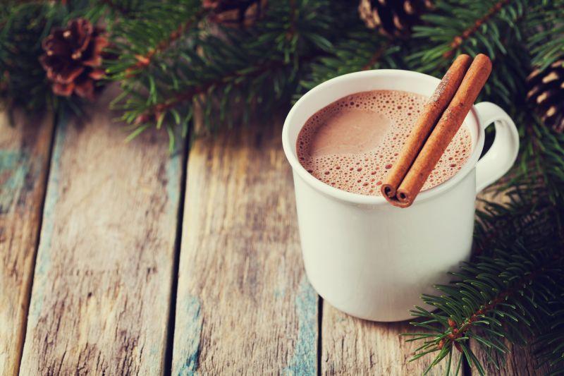 Horká čokoláda s mandlovým mlékem